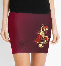 Musical Key with Roses Mini Skirt