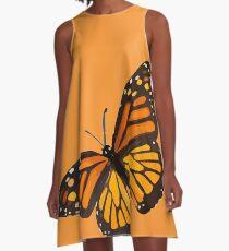 Monarchfalter - Gebrannte Orange A-Linien Kleid