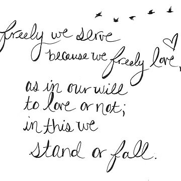 Freely We Serve... The Mortal Instruments Quote by lighttwoods