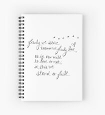Freely We Serve... The Mortal Instruments Quote Spiral Notebook