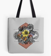 Flowers Are Just Shapes Tote Bag