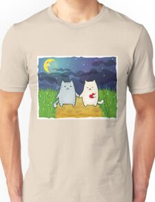 Cats under the moon Unisex T-Shirt