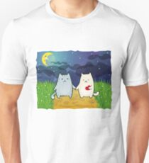 Cats under the moon T-Shirt
