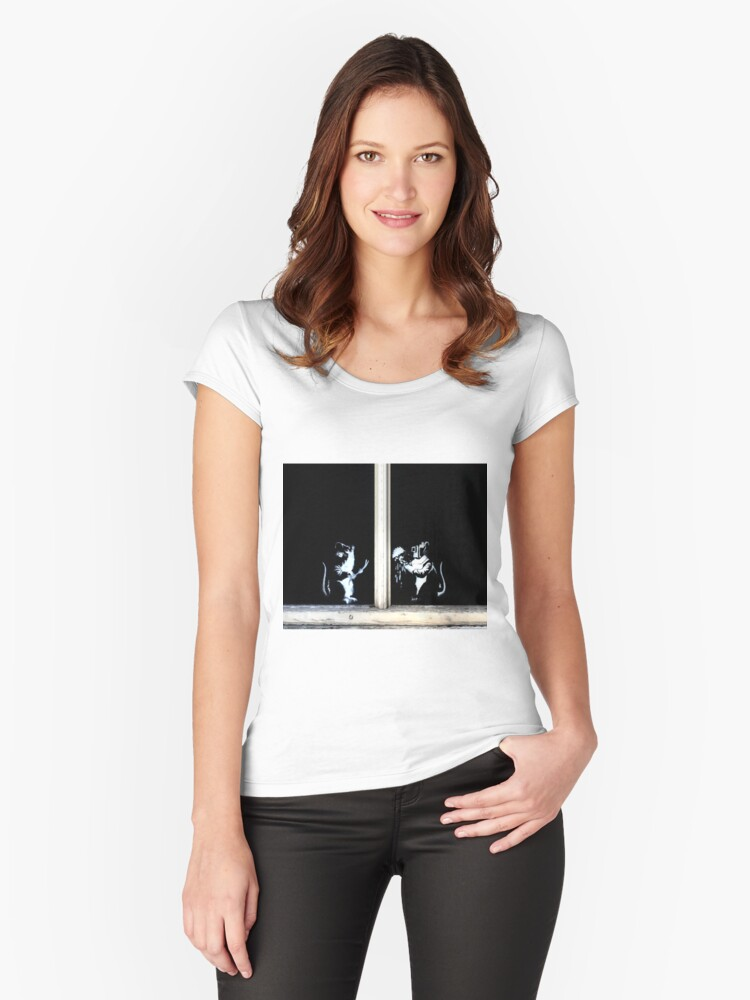 Fixing windows  Women's Fitted Scoop T-Shirt Front