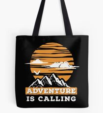 Adventure Is Calling - Mountains Explorer Tote Bag