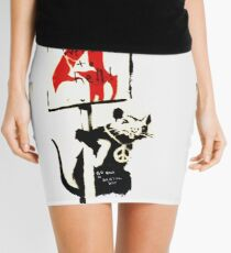 Banksy - Protester 4  Mini Skirt