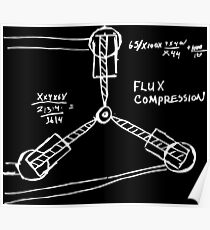 Flux Capacitor Compression Hand-made Sketch Design From Doc Himself! Poster