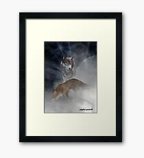 the fox and the wolf Framed Print