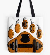Queer Cub Fitness Logo - Orange Paw Tote Bag