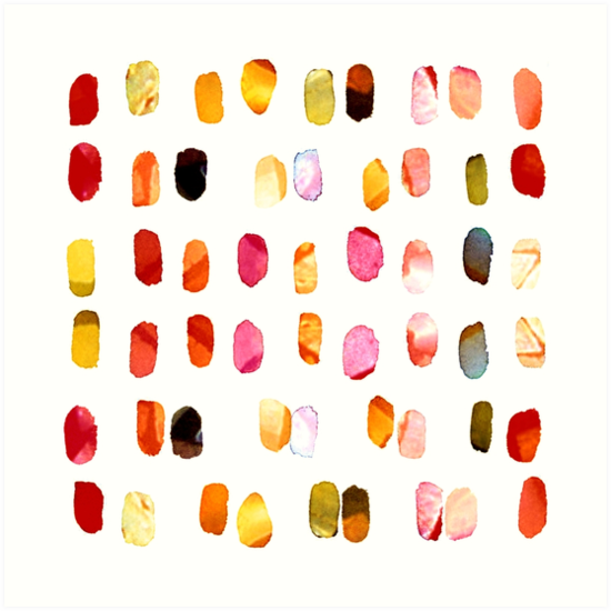 strokes of colors by agnès trachet
