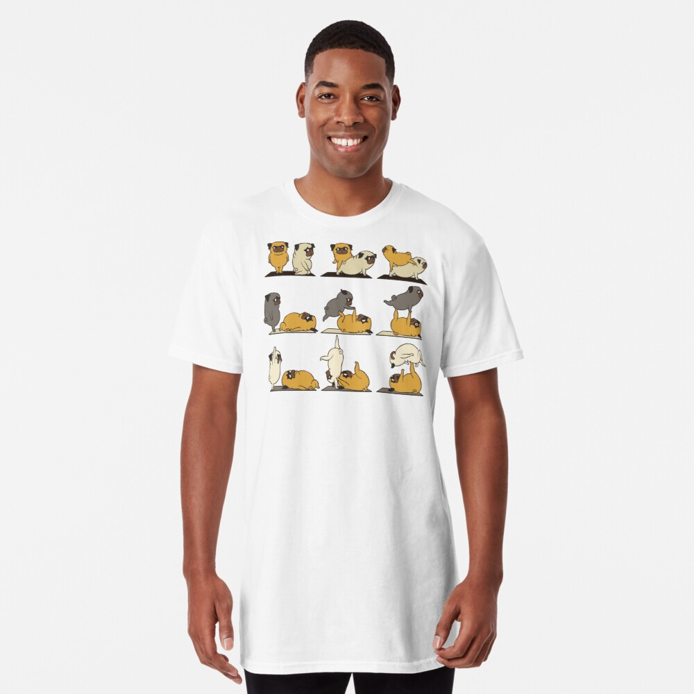 AcroYoga with The Pug Long T-Shirt