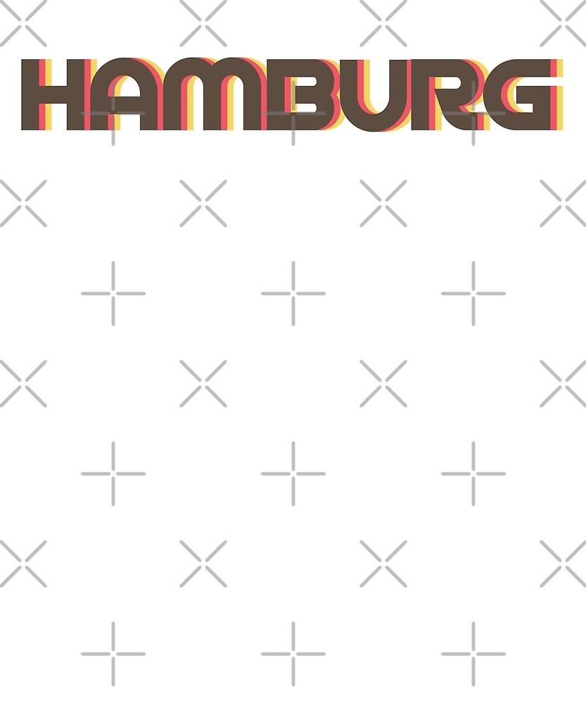 Retro Hamburg T-Shirt by designkitsch