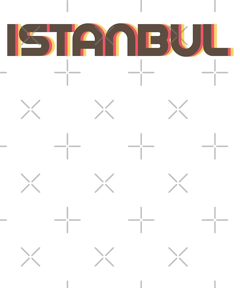 Retro Istanbul T-Shirt by designkitsch