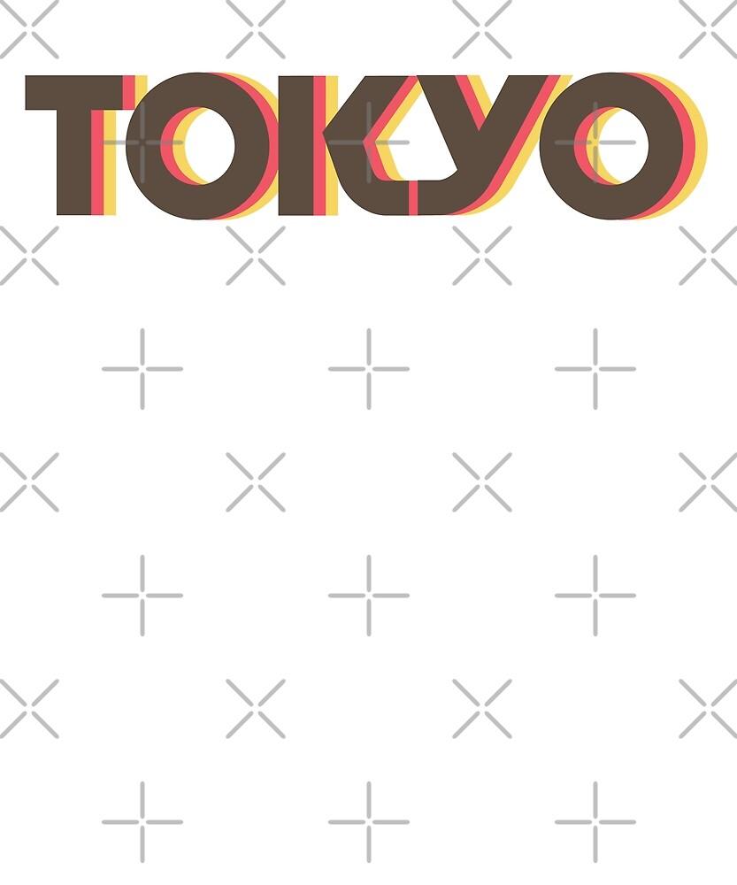 Retro Tokyo T-Shirt by designkitsch