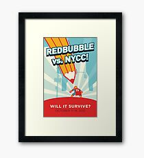 RedBubble vs. NYCC Framed Print