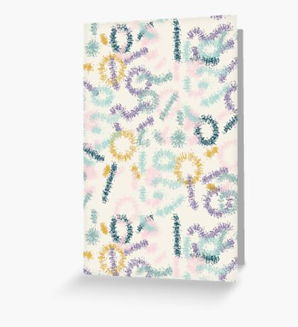 Playful #redbubble #abstractart Greeting Card