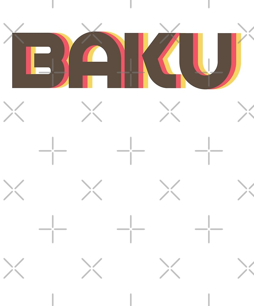 Retro Baku T-Shirt by designkitsch
