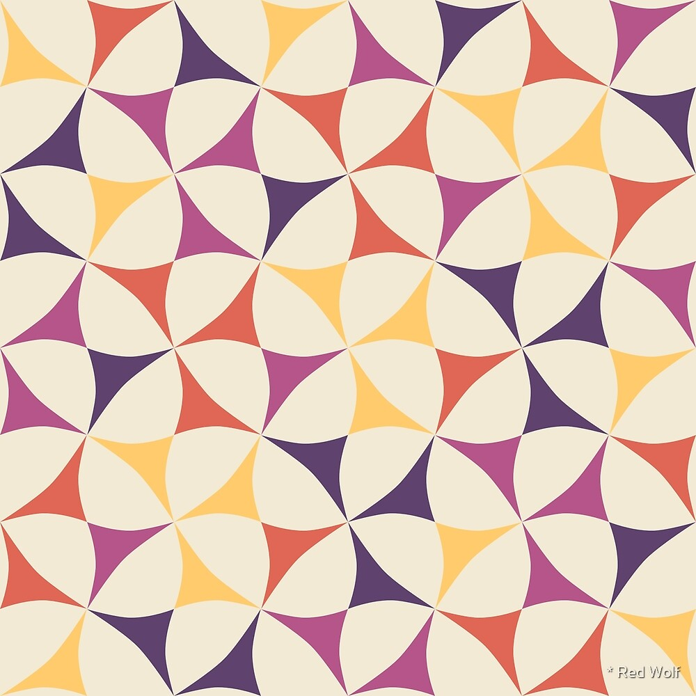 Geometric Pattern: Windmill: Spring by * Red Wolf