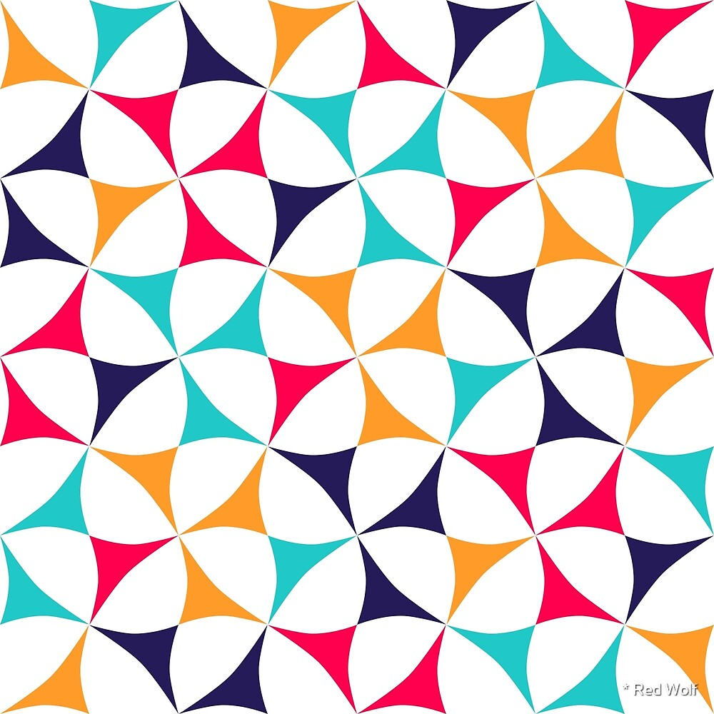 Geometric Pattern: Windmill: Summer by * Red Wolf