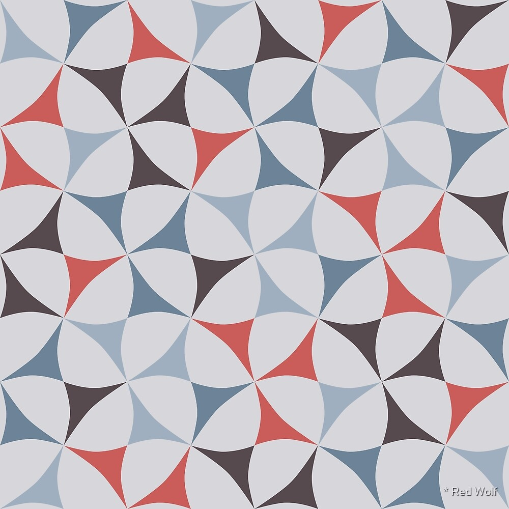 Geometric Pattern: Windmill: Village by * Red Wolf