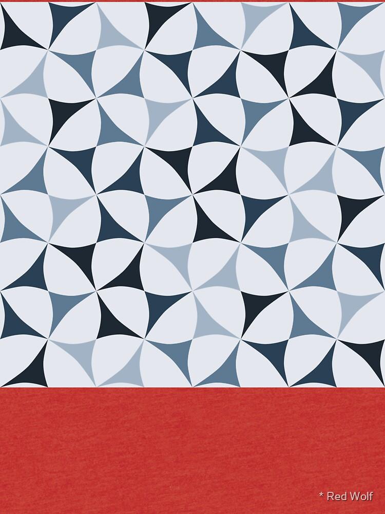 Geometric Pattern: Windmill: Winter by redwolfoz