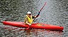 Kayaking on the Maribyrnong River at Essendon by Darren Stones