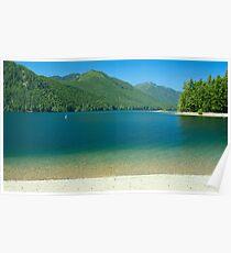 Lake Cushman Beach in Summer Poster