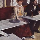 Edgar Degas French Impressionism Oil Painting Sad Woman and Man in Cafe by jnniepce