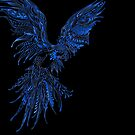BIRDS Flying Blue Parrot Iconic Graphic Art Design by VIDDAtees