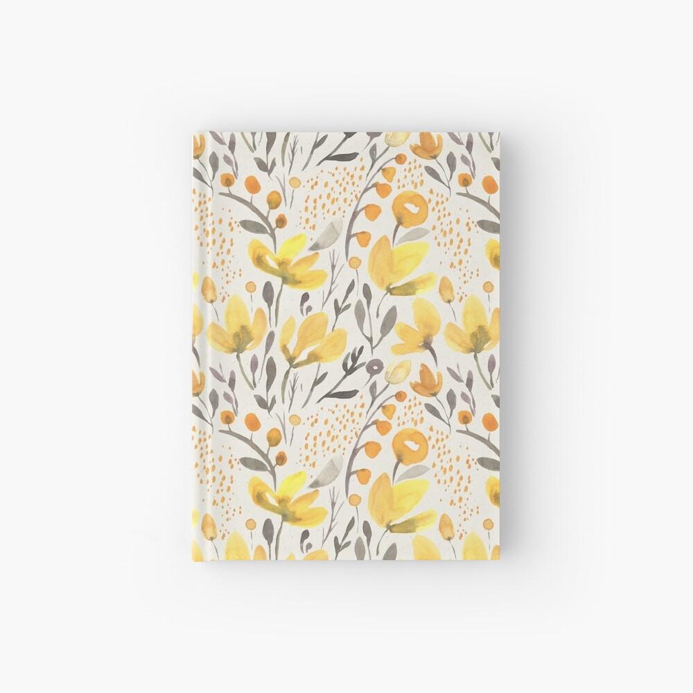 Yellow field Hardcover Journal