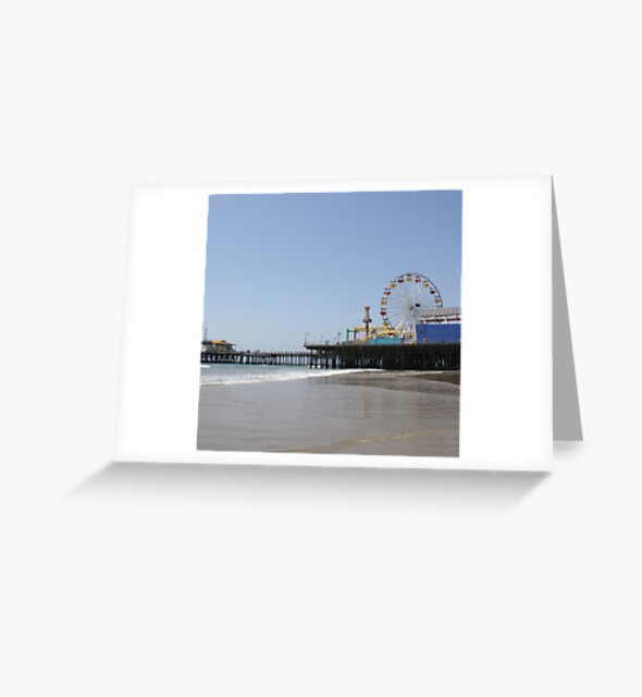 Santa Monica Pier Greeting Card Designed by stine1
