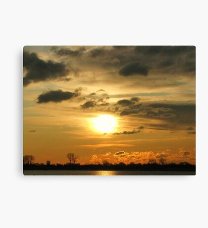 Sunrise over Atlantic ocean near New York City Canvas Print