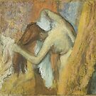 Edgar Degas French Impressionism Oil Painting Nude Woman Drying Hair After Bath by jnniepce