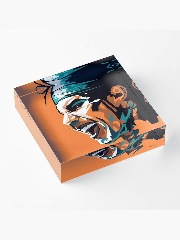 Alternate view of Rafael Nadal tennis Acrylic Block