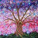 Candy Stripe Tree of Life by MarkBetsonArt