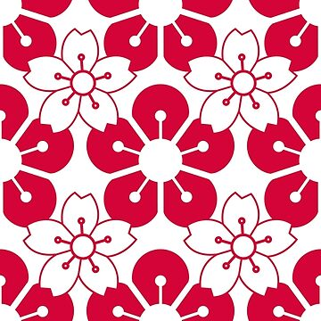 Beautiful Traditional Japanese Cherry Blossom Pattern Japan Background by ashburg