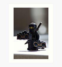 The Black Ninja Art Print