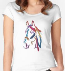 Cool t-shirt Horse Colour me beautiful Women's Fitted Scoop T-Shirt