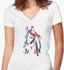 Cool t-shirt Horse Colour me beautiful Women's Fitted V-Neck T-Shirt