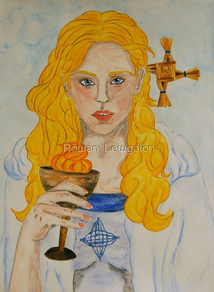 Brigid of Ireland - Naomh Bríd by Rowan  Lewgalon