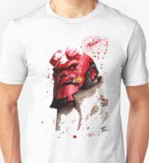 Hellboy Watercolor Design Comic Fanart Unisex T-Shirt