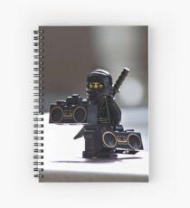 The Black Ninja Spiral Notebook