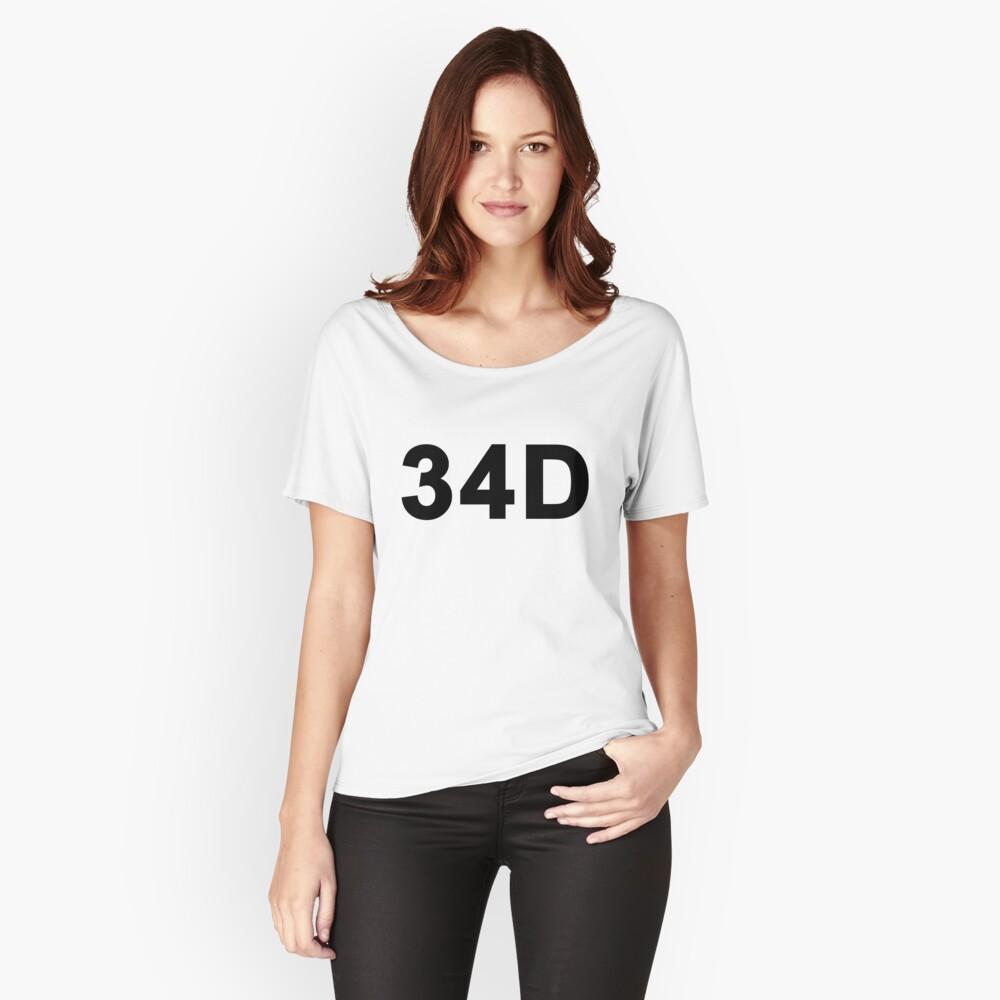 34D Women's Relaxed Fit T-Shirt Front