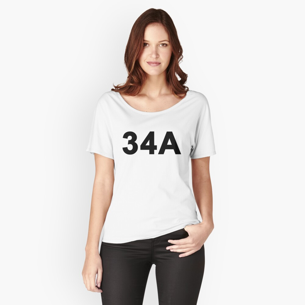 34A Women's Relaxed Fit T-Shirt Front