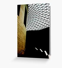 Great Court at the British Museum corporate stairway Greeting Card