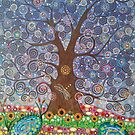 Tree of Life with Dragonfly by MarkBetsonArt