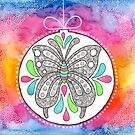 Watercolor Doodle Art | Butterfly by coloringiship