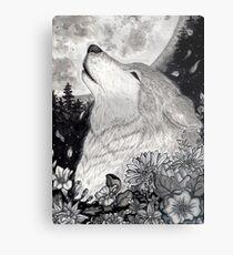 Lobo lunar Metal Print