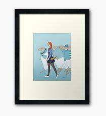Little Girl Blue Framed Print