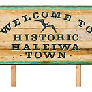 Welcome to Historic Haleiwa Town Sign by northshoresign